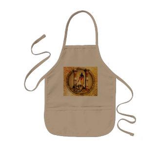 Anubis the egyptian god kids apron