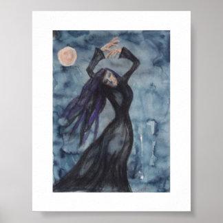 Anxious dance - Moon dance Poster