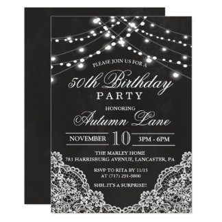 ANY AGE - Adult Birthday Party Invitation