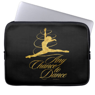 Any Chance To Dance (gold) Laptop Sleeve