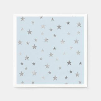 Any Color Napkins with Faux Silver Stars Disposable Napkin
