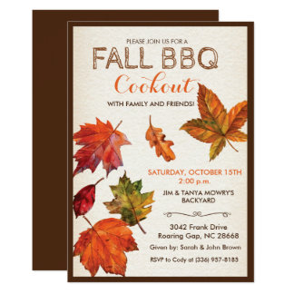 ANY EVENT - Fall Autumn Leaves Invitation