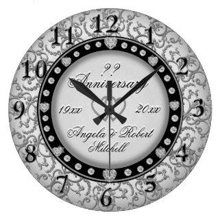 Any Year Anniversary Silver Wallclock