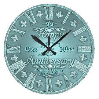 Any Year Wedding Anniversary Large Clock