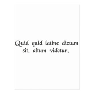 Anything said in Latin sounds profound Postcard