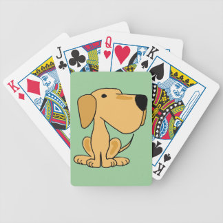 AO- Cute Funny Yellow Labrador Playing Cards