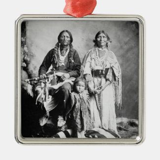 Apache Chief Antonio Maria with his family, 1897 ( Christmas Ornament