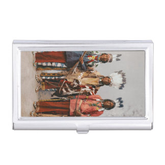 Apache Chiefs Vintage Native Americans Case For Business Cards
