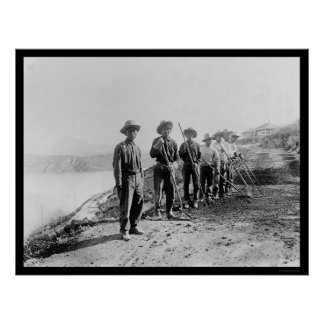 Apache Indian Laborers at the Salt River 1922 Print