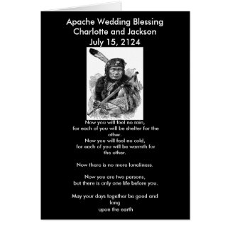 Apache Wedding Blessing Blood Cheif Greeting Card