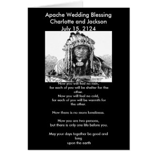 Apache Wedding Blessing Cheif Cards