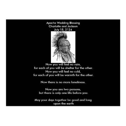 Apache Wedding Blessing Ojibwa Cheif Postcards