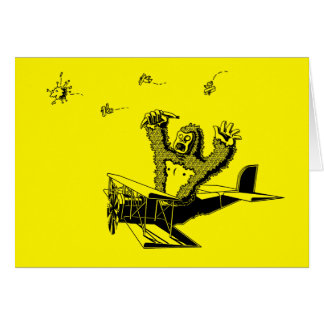 Apes On Planes Card