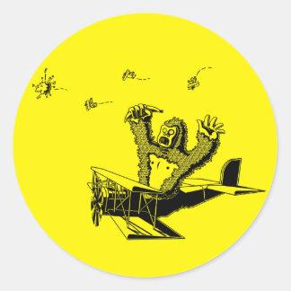 ApesOnPlanes Classic Round Sticker