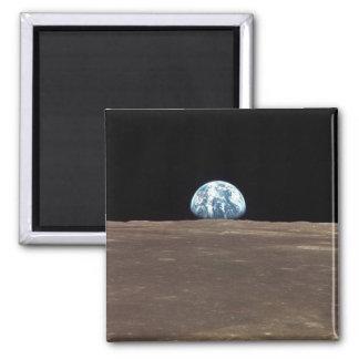 APOLLO 11 EARTHRISE (earth moon solar system) ~ Square Magnet
