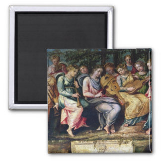 Apollo and the Muses, 1600 Square Magnet