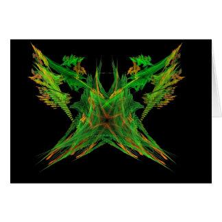 Apophysis-100806-1  Green orange Butterfly Card