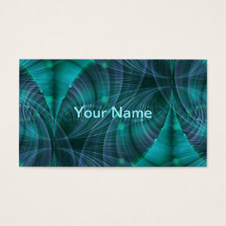 Apophysis Fractal Art I - blue Business Card