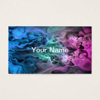 Apophysis Fractal Art II - pink green blue Business Card