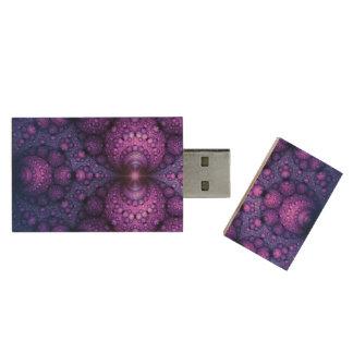 Apophysis Fractal - Atoms Fusion + your ideas Wood USB Flash Drive