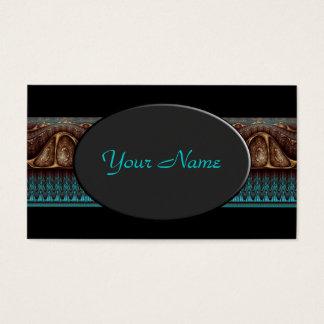 Apophysis Fractal Border ART - antique turquoise Business Card