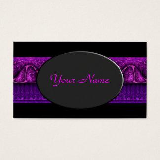 Apophysis Fractal Border ART - violet pink Business Card