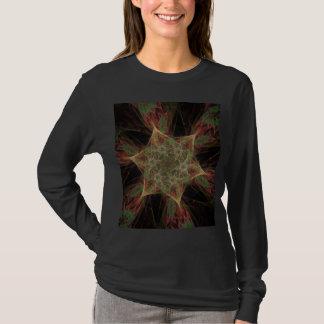Apophysis Fractal Star Flowers Design T-Shirt