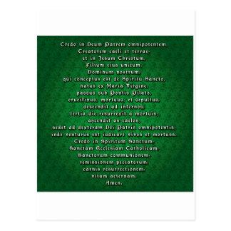 Apostles' Creed in Latin Postcard