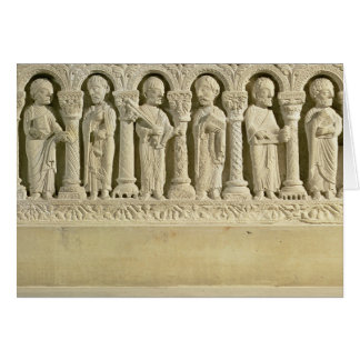 Apostles under Arcades, carved relief, c.1150 (sto Card