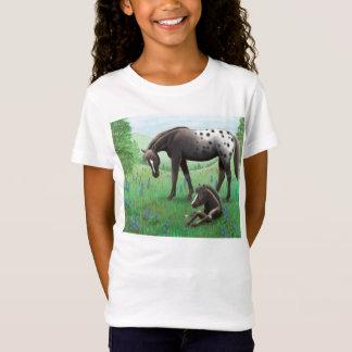 Appaloosa Horse & Foal Girls Babydoll Shirt