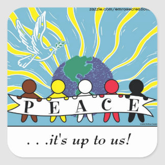 APPAREL, ETC:  WORLD PEACE STICKERS