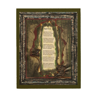 Apparitions Wood Canvas