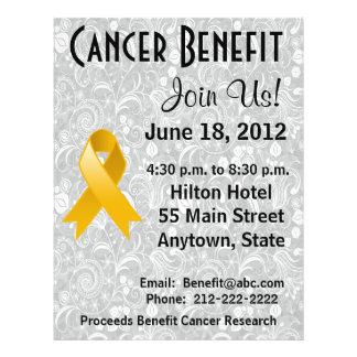 Appendix Cancer Awareness Benefit Floral Flyer