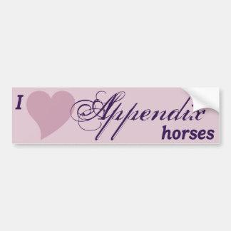 Appendix Quarter Horses Bumper Sticker