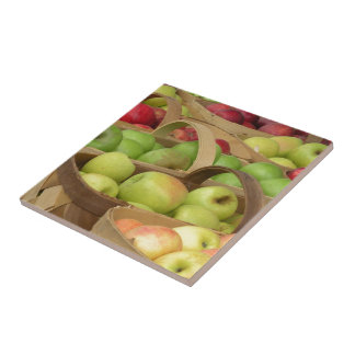 Apple Baskets at Market Ceramic Tile