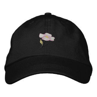 Apple Blossom Embroidered Hat