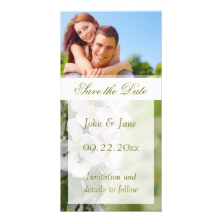 "Apple Blossom/photo  ""Save the Date"" Customised Photo Card"
