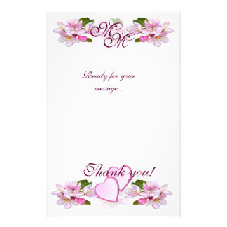 "APPLE BLOSSOM ""Thank you"" ~ Stationary Stationery"