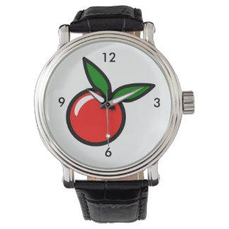 Apple Cherry Red Fruit Cartoon Watch