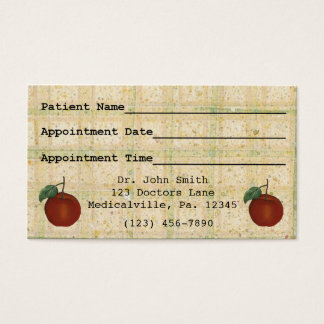 Apple Doctor's Appointment Business Card