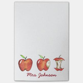 Apple for the School Teacher Apples Gift Post-it Notes