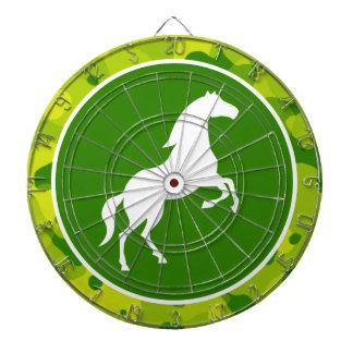 Apple Green Camo; Horse, Equestrian Dartboard