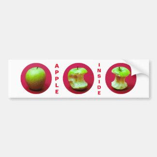 Apple Inside Funny customizable Bumper Sticker