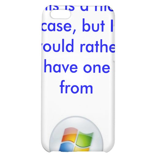 Apple Microsoft iPhone case iPhone 5C Cover