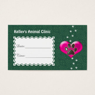 Appointment Animal Services Doctor U pick Color Business Card