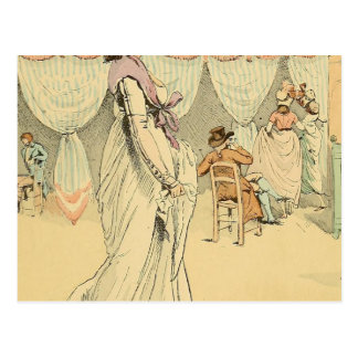 Appointment at the cafe de Tuileries 1898 Postcard