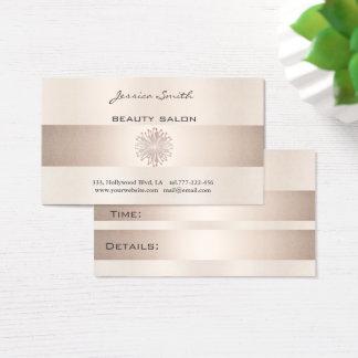 Appointment card elegant shiny bright dandelion
