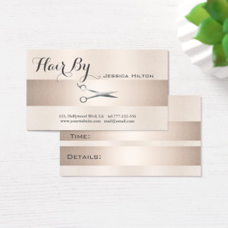 Appointment card elegant shiny bright scissors