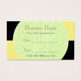 Appointment Card I/ U-pick Color Black Checkered