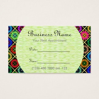 Appointment Card I/ U pick Color Radiant Flowers